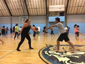 Capoeira sparring