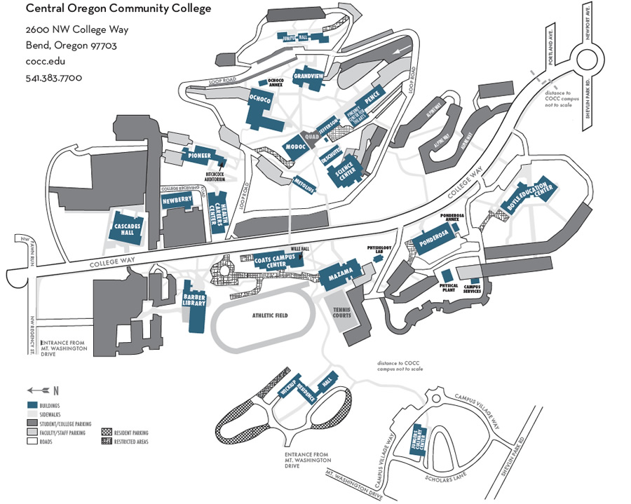 Bend Campus Map   Central Oregon Community College