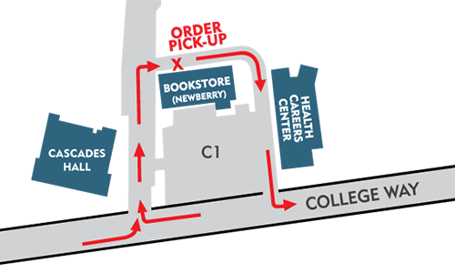 Bookstore Pick-up Location Map