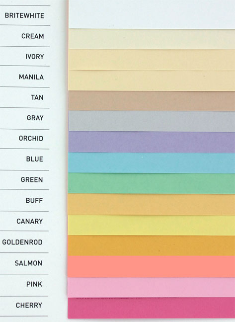 Paper - Domtar Color Swatches