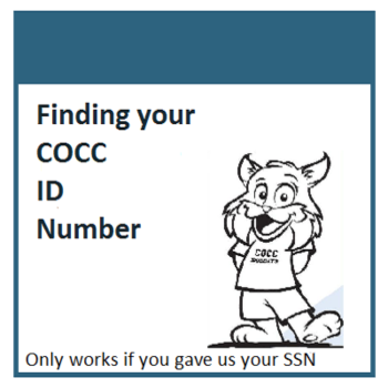 Look up your COCC ID number