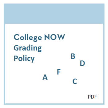 College Now Grading Policy