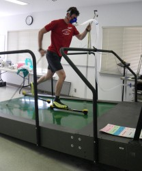 Roller Ski VO2max test at COCC Physiology Lab