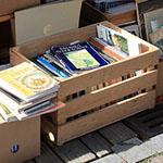 Photo of books in boxes