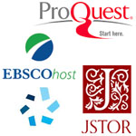 Collage of subscription database vendor logos