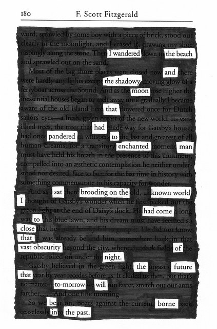Blackout Poetry by Chris Lott