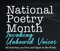 National Poetry Month 2018 Poster