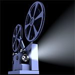 Photo of a movie projector