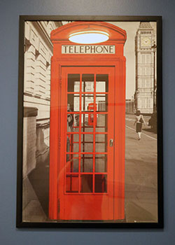 Red phonebooth photo that marks phone zones