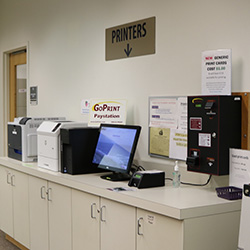 Print station at Barber Library