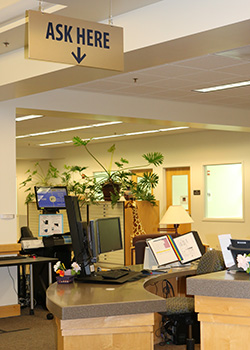 The Reference Desk at Barber Library