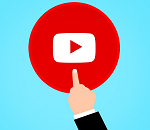 Illustration of streaming video play button