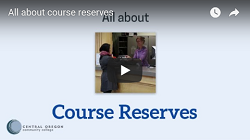 Thumbnail for the All about course reserves video