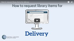 Thumbnail for the How to request items for delivery video