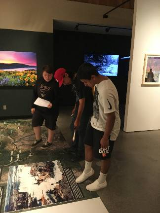 Students learn about Celilo Falls during Strive field trip