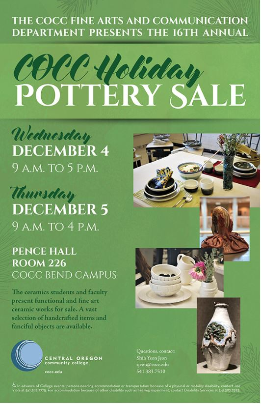 COCC Holiday Pottery Sale