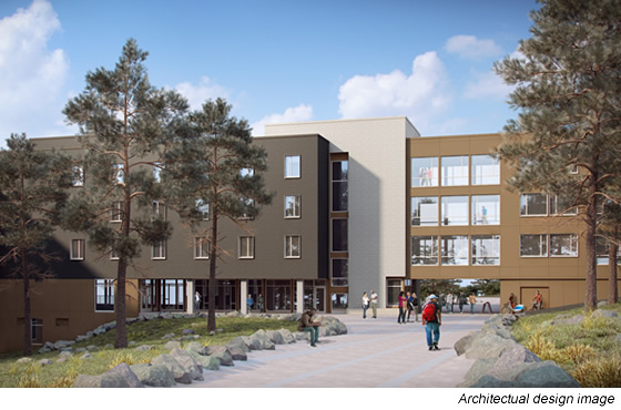 Residence Hall - Exterior Architect