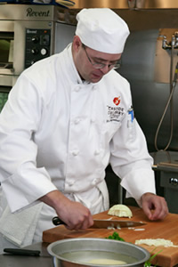 Cascade Culinary Institute Student - Chopping