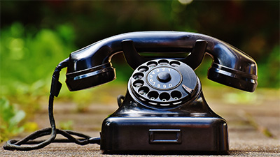 Stock photo of an antique telephone